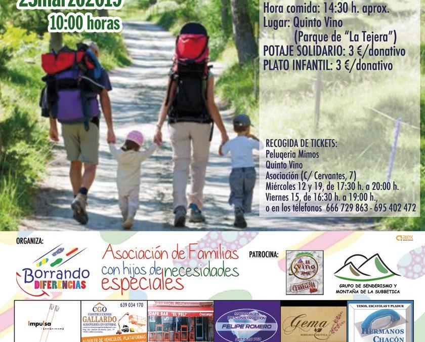 Actividad Senderismo+Comida 23 Marzo